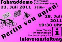 Einladung zur Fahrraddemo
